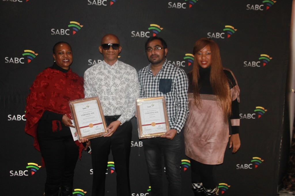 Maditsi Mphela receiving SABC Loyalty Awards